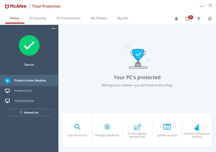 McAfee-antivirus-interface